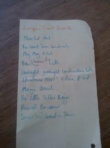 Hannah's book list