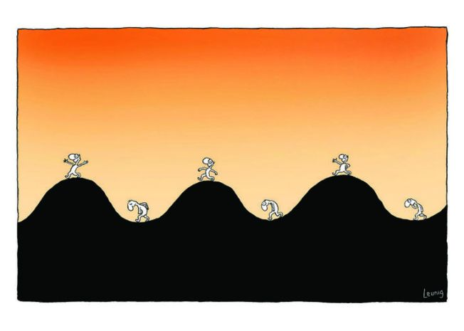 leunig up and down life